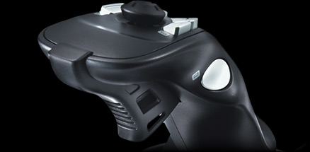 Close up of the Extreme 3D Pro's rapid fire trigger