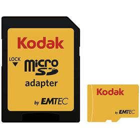 Emtec Kodak UHS-I U1 Class 10 microSDHC 64GB With Adapter