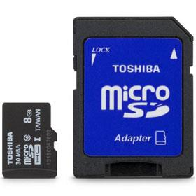 Toshiba 8GB MicroSD Class 10 UHS-I High Speed Memory Card