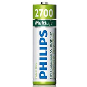 Philips MultiLife Rechargeable AA Batteries
