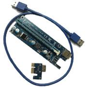Riser PCIE x1 to x16 USB 3 Ver 009S extender