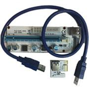 Riser PCIE x1 to x16 USB 3 Ver 008S extender